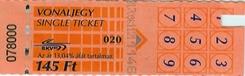 Kaartjes voor het openbaar vervoer